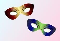 realistiska carnaval maskeringar Fotografering för Bildbyråer