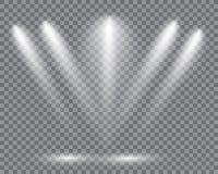 Realistiska ledde ljus från projektorn Arkivbild