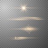 Realistiska Lens signalljusbest?ndsdelar vektor illustrationer