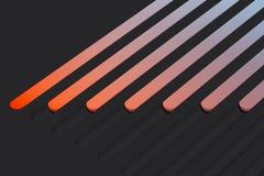 Realistiska mångfärgade vippknappar på mörk bakgrund framförande 3d vektor illustrationer