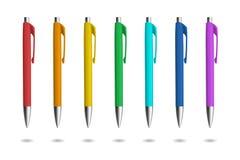 Realistiska pennor för identitetsdesign Arkivfoton