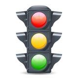 Realistiska trafikljus Royaltyfri Fotografi