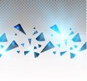 Realistiska trianglar och ljusa effekter växt för effekt 3d… leaves för green rörelse av flygtrianglar också vektor för coreldraw Arkivfoto