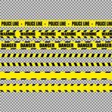Realistiska varningsband royaltyfri illustrationer