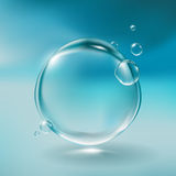 Realistiska vattenbubblor Vektor Illustrationer