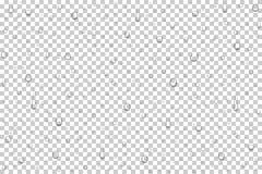 Realistiska vattendroppar för vektor Arkivbild