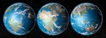 realistiskt avstånd för jordplanet vektor illustrationer