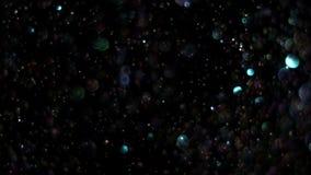 Realistiskt blänka explosion på svart bakgrund stock video