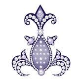 Realistiskt dekorativt stycke av smycken Arkivbilder