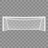 Realistiskt detaljerat mål för fotboll 3d vektor royaltyfri illustrationer