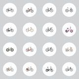 Realistiskt gammalt, Bmx, märkesvektorbeståndsdelar Uppsättningen av realistiska symboler inkluderar också Cyclocross, Bmx som ar Royaltyfri Foto