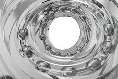 Realistiskt glass virvla lager i lagervitbakgrunden framförande 3d Arkivfoton