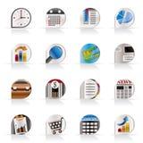 realistiskt kontor för affärssymbolsinternet royaltyfri illustrationer