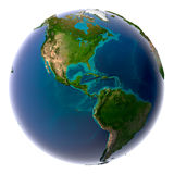 realistiskt naturligt planet för jord Arkivbild