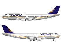 Realistiskt passagerareflygplan Royaltyfri Fotografi
