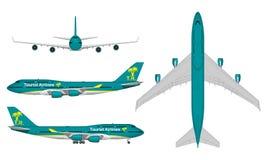 Realistiskt passagerareflygplan Arkivfoton