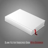 Realistyczna biała pusta hardcover książka z czerwienią ilustracji