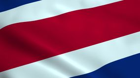Realistyczna Costa Rica flaga royalty ilustracja