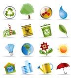 realistyczna ekologii ikona Zdjęcia Stock