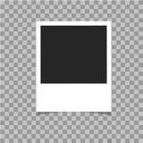 Realistyczna fotografii rama z cieniem na szkockiej kraty tle Obrazy Royalty Free