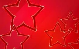 Realistyczna glansowana czerwieni gwiazdy tła uruchomienia prezentacja Jaskrawy zabawkarski plastikowy projekt błyszczący 3d, wib ilustracji