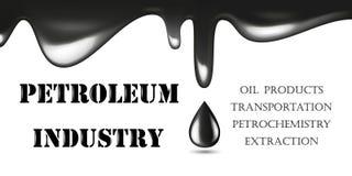 Realistyczna Glansowana kropla Odizolowywająca na Białym tle czerń olej również zwrócić corel ilustracji wektora Przemysłu Naftow royalty ilustracja
