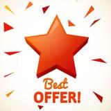 Realistyczna gwiazda odizolowywająca najlepsza oferta Zdjęcie Royalty Free