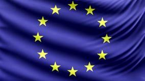 Realistyczna piękna Europa flaga 4k
