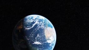 Realistyczna piękna planety ziemia od głębokiej przestrzeni ilustracji
