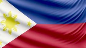 Realistyczna piękna Filipiny flaga 4k zbiory wideo