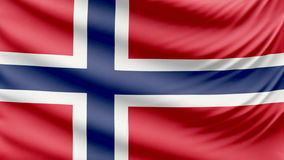 Realistyczna piękna Norwegia flaga 4k zbiory