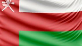 Realistyczna piękna Oman flaga 4k zbiory wideo