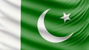 Realistyczna piękna Pakistan flaga 4k zdjęcie wideo