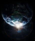 Realistyczna planety ziemia w przestrzeni ilustracji
