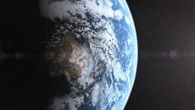 Realistyczna planety ziemia wyjawia royalty ilustracja