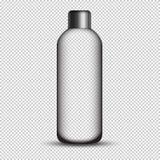 Realistyczna szklana butelka z metal nakrętką odizolowywającą na przejrzystym tle ilustracji