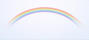 Realistyczna tęcza Kolorowi podeszczowi niebo tęcz kolory i homoseksualny symbol odizolowywali wektorową ilustrację royalty ilustracja