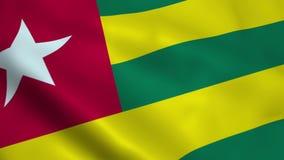Realistyczna Togo flaga ilustracji