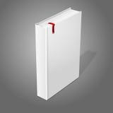 Realistyczna trwanie biała pusta hardcover książka z ilustracja wektor
