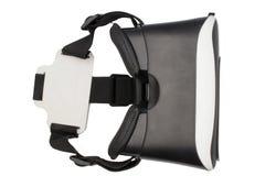 Realistyczna VR kamera, VR pudełka, rzeczywistości wirtualnej szkła odizolowywający na białym tle/ fotografia stock