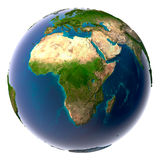 realistyczna ziemska naturalna planeta Obraz Stock