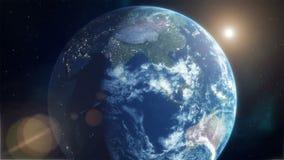 realistyczna ziemska planeta royalty ilustracja