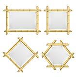Realistyczne 3d Wyszczególniać Bambusowych krótkopędów ramy Ustawiać wektor Obraz Royalty Free