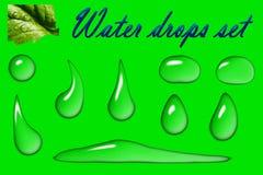 Realistyczne krople ustawiająca wody ilustracja ilustracja wektor