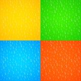 Realistyczne obcieknięcie krople woda szkło stubarwny Kolorowy tło dla twój projektów świeżość czysta Świeży sok wektor ilustracji
