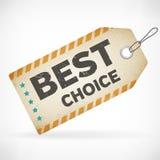 Realistyczne papierowe najlepszy wybór etykietki Zdjęcie Stock