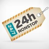 Realistyczne papieru 24h nonstop etykietki Zdjęcie Stock