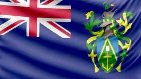 Realistyczne piękne Pitcairn wyspy chorągwiany 4k zbiory wideo