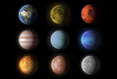 Realistyczne planety kolekcje, nauka ilustracja wektor