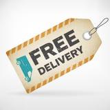Realistycznego papieru dostawy bezpłatne etykietki Zdjęcie Royalty Free